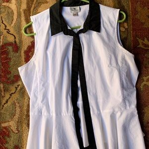 Worthington Peplum Shirt- sleeveless button down